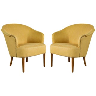 Pair of Carl Malmsten Lounge Chair For Sale
