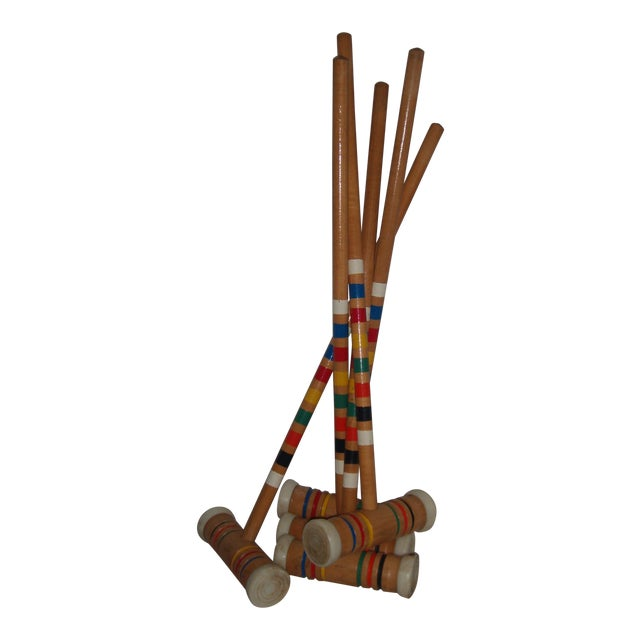Vintage Croquet Mallets - Set of 5 - Image 1 of 7