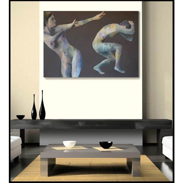 'Duo Effugi Diluvium' Oil Painting - Image 3 of 5
