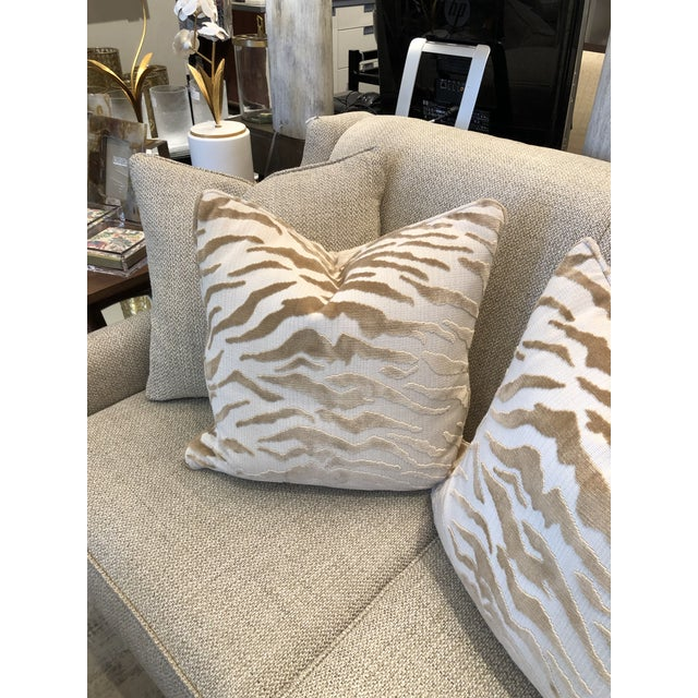 Hollywood Regency Hollywood Regency Beacon Hill Tiger Pillows - a Pair For Sale - Image 3 of 6
