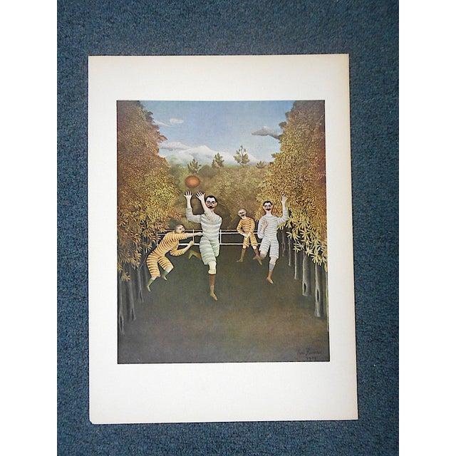 Blue Vintage Ltd. Ed. Post-Impressionist/Surrealist Lithograph-Henri Rousseau (Fr. 1844-1910) For Sale - Image 8 of 9