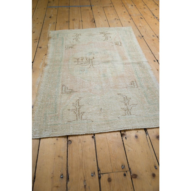 "Old New House Vintage Distressed Oushak Rug - 2'9"" X 4'1"" For Sale - Image 4 of 8"
