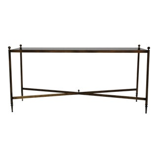 20th Century Regency Bronze Console Table For Sale