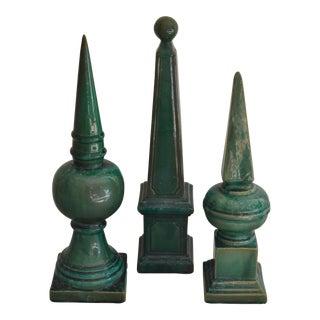 Primitive Pottery Obelisks - Set of 3