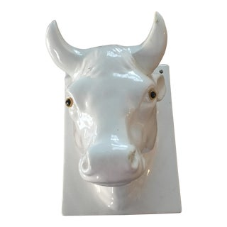 Wall Mounted Ceramic Cow /Bulls Head