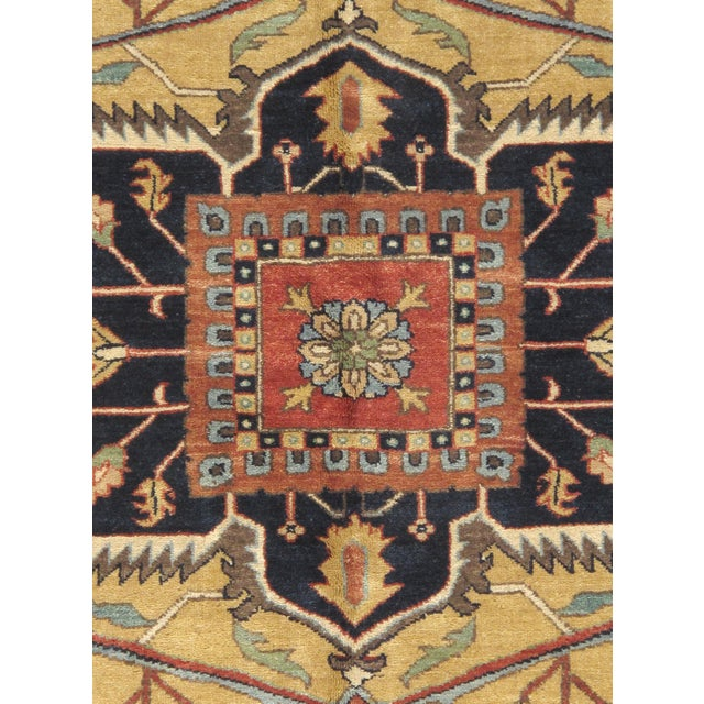 "Transitional Modern Pasargad Serapi Collection Wool Area Rug, 9'1"" X 12'1"" For Sale - Image 3 of 5"