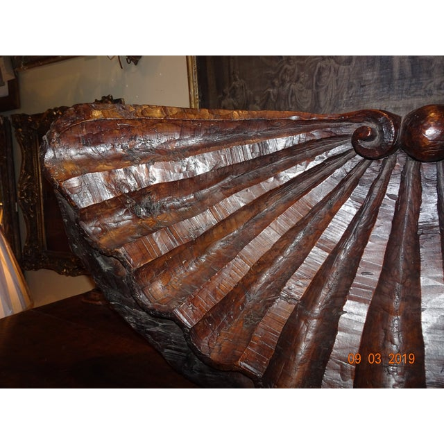 Brown 19th Century Walnut Carved Shell For Sale - Image 8 of 12