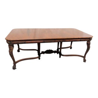 20th Century Victorian Style Carved Dining Room Table For Sale