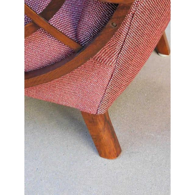 1940s Vintage Swedish Modernist Winged Back Spider Web Armchairs- a Pair For Sale In Richmond - Image 6 of 13