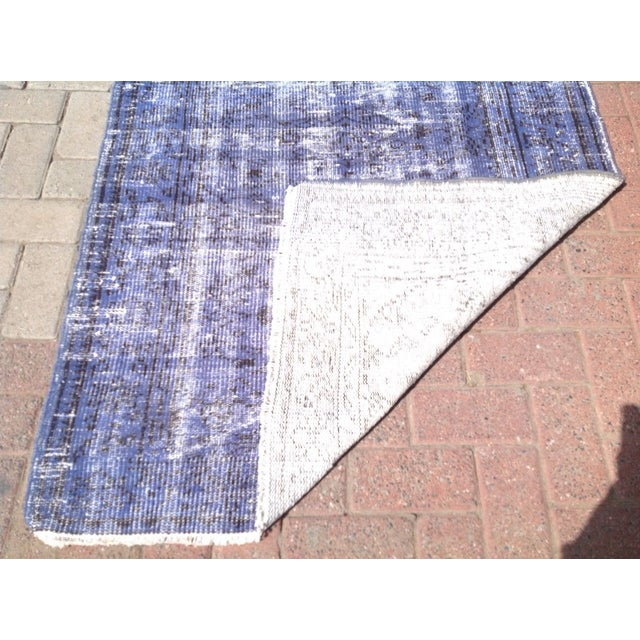 Vintage Turkish Over Dyed Rug - 3′7″ × 6′11″ For Sale In Raleigh - Image 6 of 6