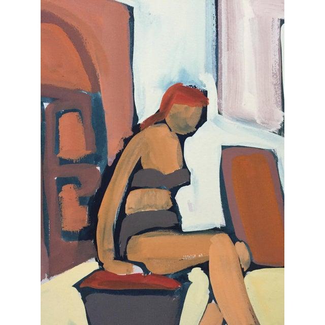 """Ruth Opper From the estate of Jerry Opper & Ruth Friedmann Opper Bikini c. 1940-1950's Gouache on Paper 18"""" x 15"""" Unframed..."""