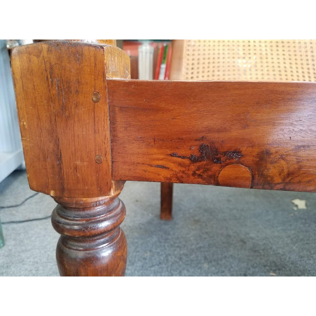 Teak Plantation Chair & Ottoman For Sale - Image 9 of 11