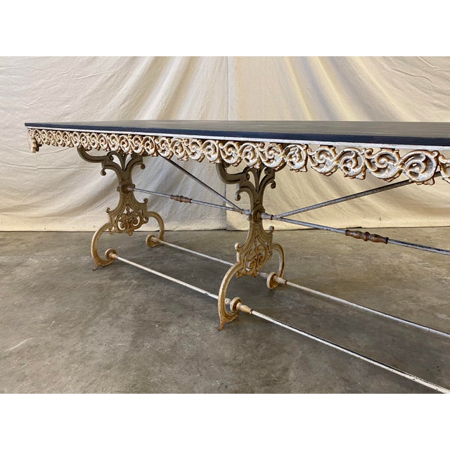 French Pastry Table With Iron Base - 19th C For Sale In Austin - Image 6 of 12