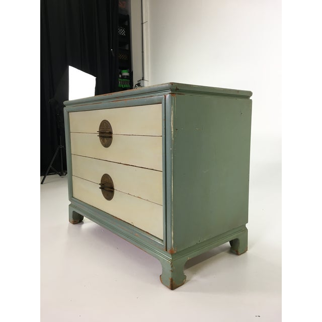 Asian Inspired Mid-Century Modern Solid Wood Bachelor Chest of Drawers For Sale - Image 12 of 13