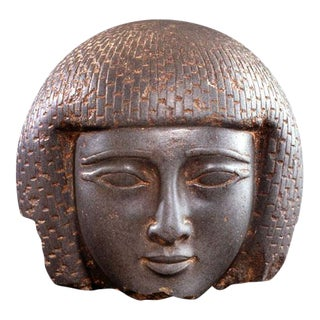New Kingdom Stone Head of a Ma