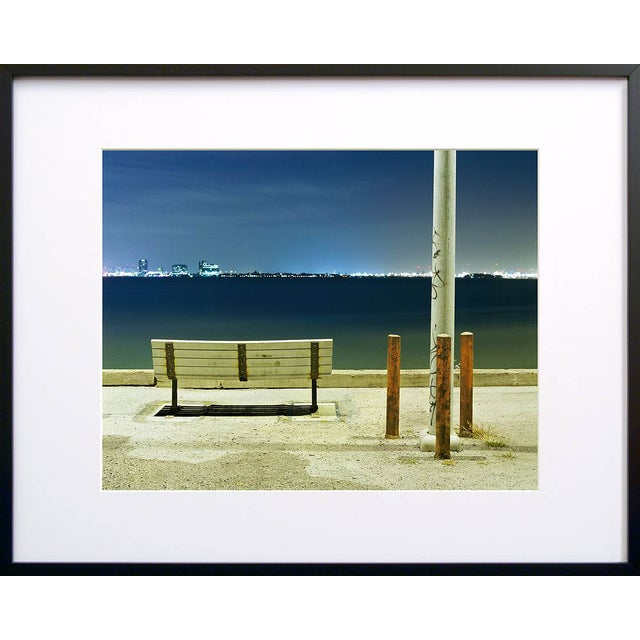 Bench and Poles - Night Photograph by John Vias - Image 2 of 2
