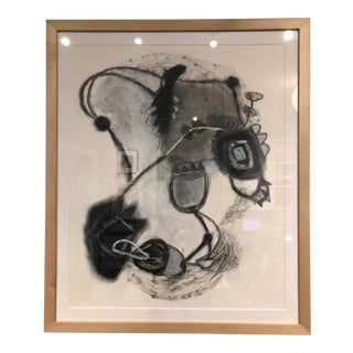 Alaine Becker Black & White Mixed Media Drawing For Sale