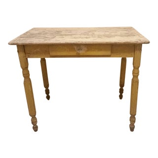 Early 20th Century Rustic Farmhouse Table For Sale