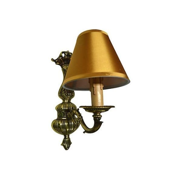 Vintage French Boudoir Brass Sconce - Image 3 of 5