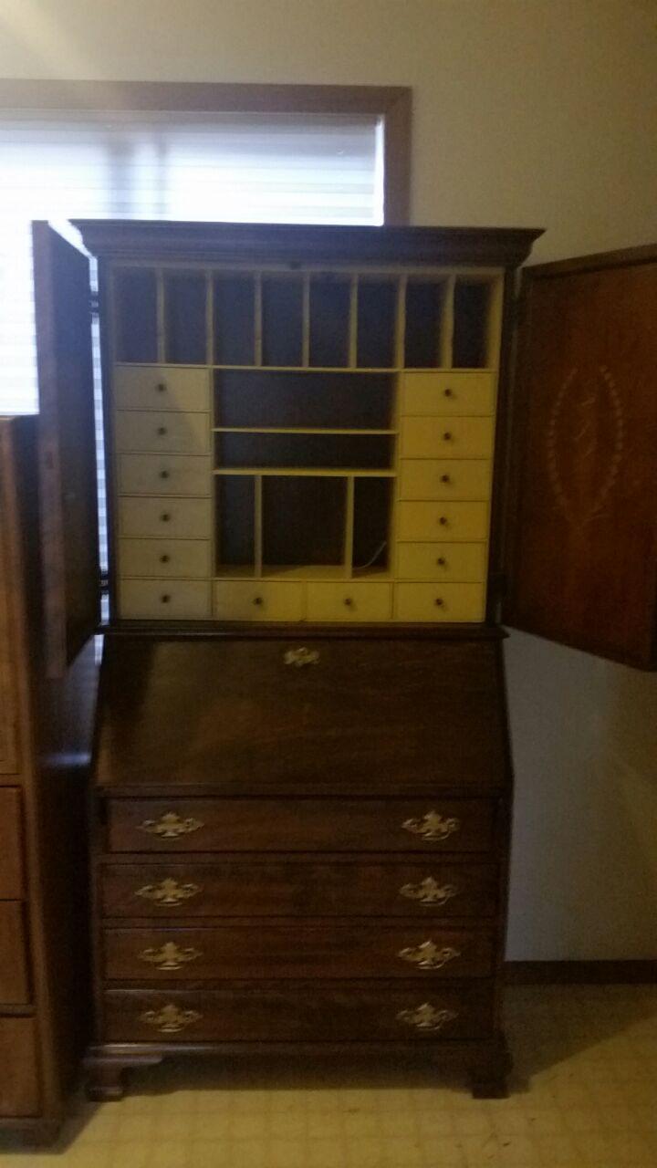 Vintage Jasper Cabinet Co. Secretary Desk   Image 3 Of 11