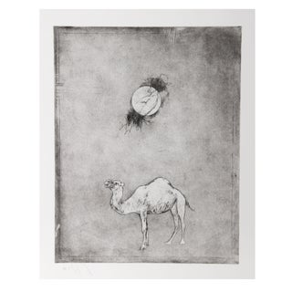 Donald Saff - Camel Moon Etching