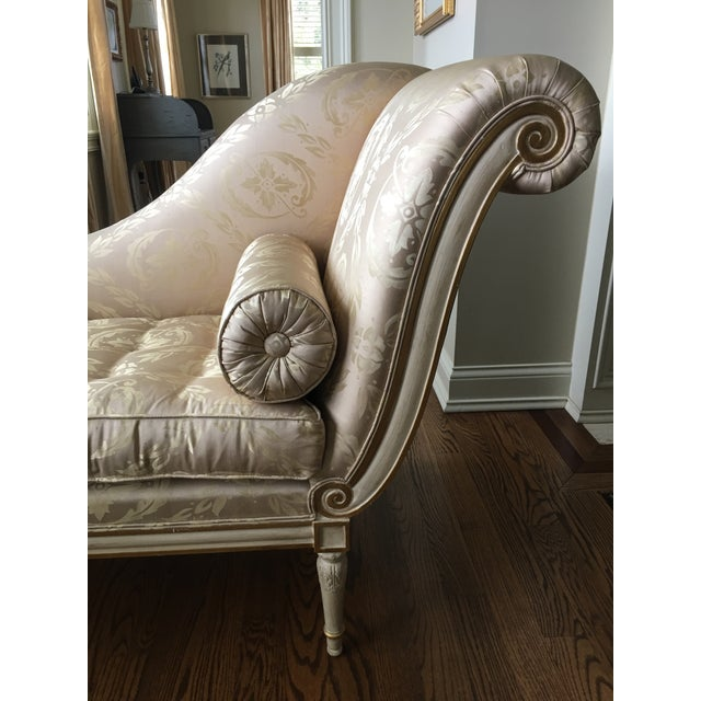 French 20th Century French Style Chaise For Sale - Image 3 of 8