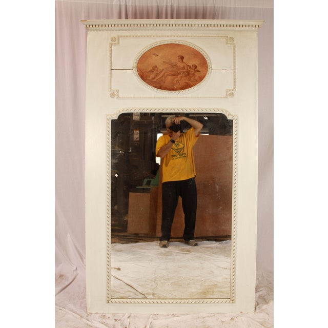 1890 Antique French Cherub Trumeau Mirror For Sale In New Orleans - Image 6 of 6