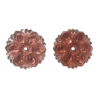Sex and the City Charlotte York Pink Glass Rosette Curtain Tiebacks - Set Of 6 For Sale