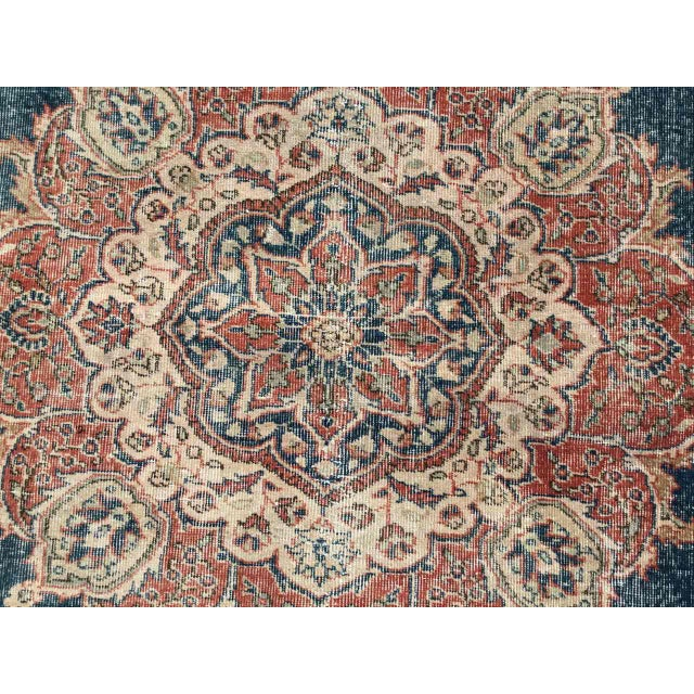 1930s Large Distressed Oushak Rug For Sale - Image 5 of 13