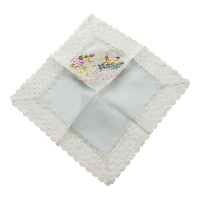 "World War I ""Souvenir De France"" Silk Handkerchief - Image 1 of 11"