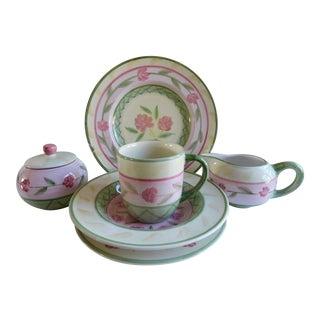 Service for 8 - Bella Ceramica Tuscan Pottery Dinnerware