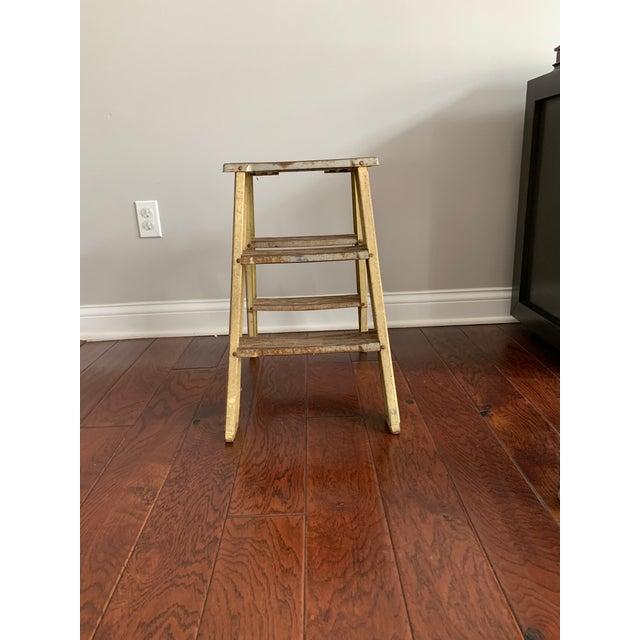 1940s Vintage Industrial Metal Step Ladder For Sale - Image 11 of 11