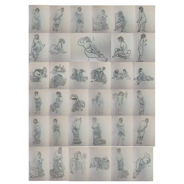 1923 Parisiennes Drawing Print by Remy De Gourmont & André Rouveyre For Sale - Image 12 of 12