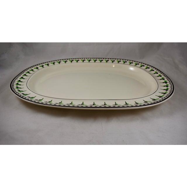 """Josiah Spode 15"""" Creamware Hand Painted Fern & Dot Platter, 1785 For Sale In Philadelphia - Image 6 of 11"""