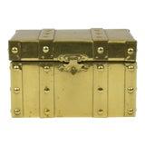 Image of Sarreid Style Miniature Tabletop Brass Trunk For Sale