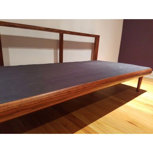 Mid Century Modern Vinyl Daybed / Loveseat - Image 8 of 11