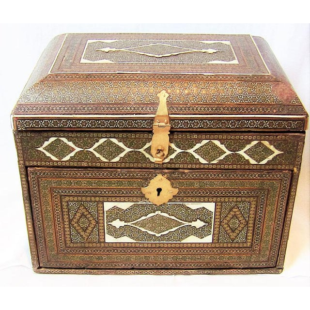 18c Indo Portugese or Persian Vargueno Mini Cabinet For Sale - Image 13 of 13