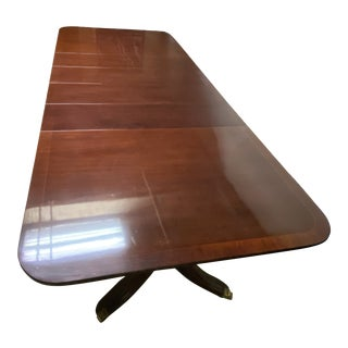 Kindel Duncan Phyfe Mahogany Dining Room Table For Sale