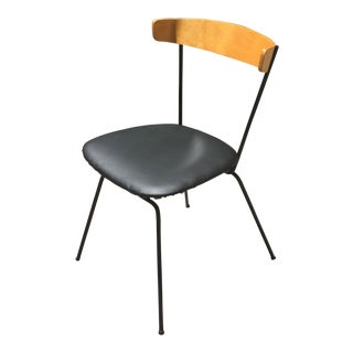 1950s Vintage Clifford Pascoe Black Iron and Wood Chair For Sale