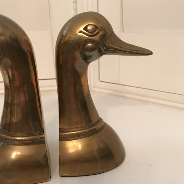 1960s Danish Modern Brass Duck Bookends - a Pair For Sale - Image 4 of 8
