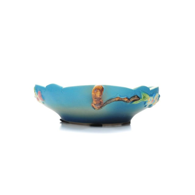 Mid 19th Century Antique Roseville Pottery Blue Bowl For Sale - Image 5 of 10