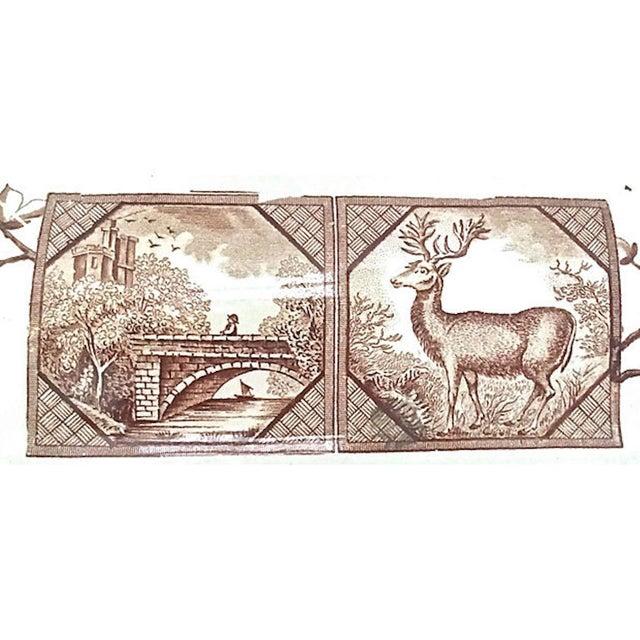Ceramic Antique Floral & Scenic Transferware Tureen For Sale - Image 7 of 12