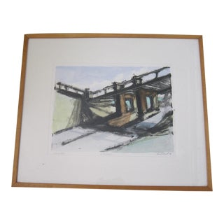 David Siegal Modernist Monotype For Sale