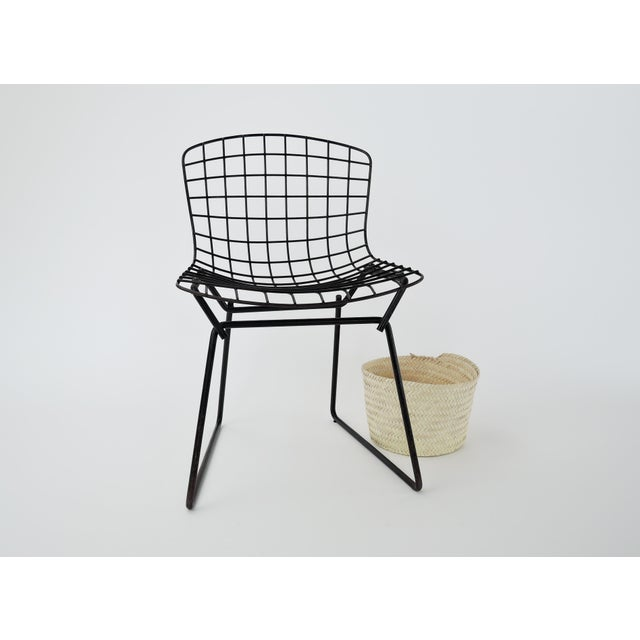 Black 1960s Mid-Century Modern Harry Bertoia for Knoll Child Chair For Sale - Image 8 of 9
