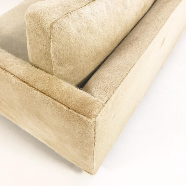Tan Forsyth One of a Kind Milo Baughman for Thayer Coggin Loveseat Sofa in Palomino Brazilian Cowhide For Sale - Image 8 of 11