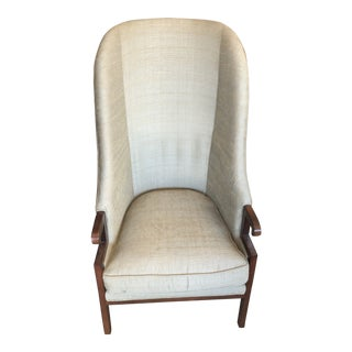 Thayer Coggin Chair Green Fabric For Sale