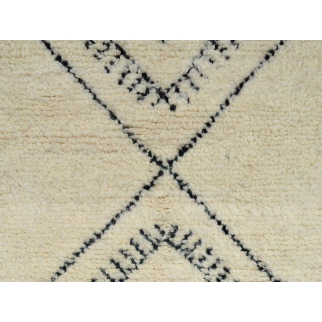 Textile Moroccan Beni Ourain Runner Rug - 2′9″ × 10′7″ For Sale - Image 7 of 9