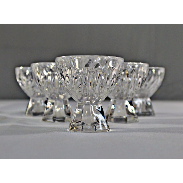 Cut Crystal W/Faceted Base Egg Cups - Set of 6 For Sale - Image 4 of 6