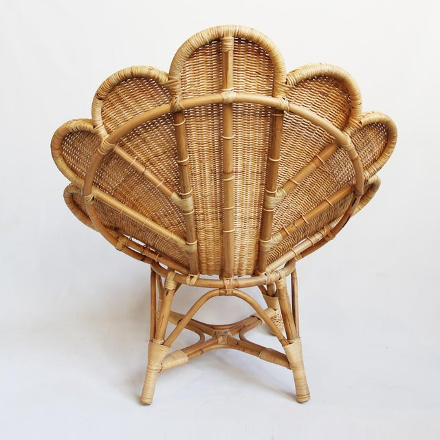 Contemporary Rattan Natural Shell Chair For Sale - Image 3 of 6