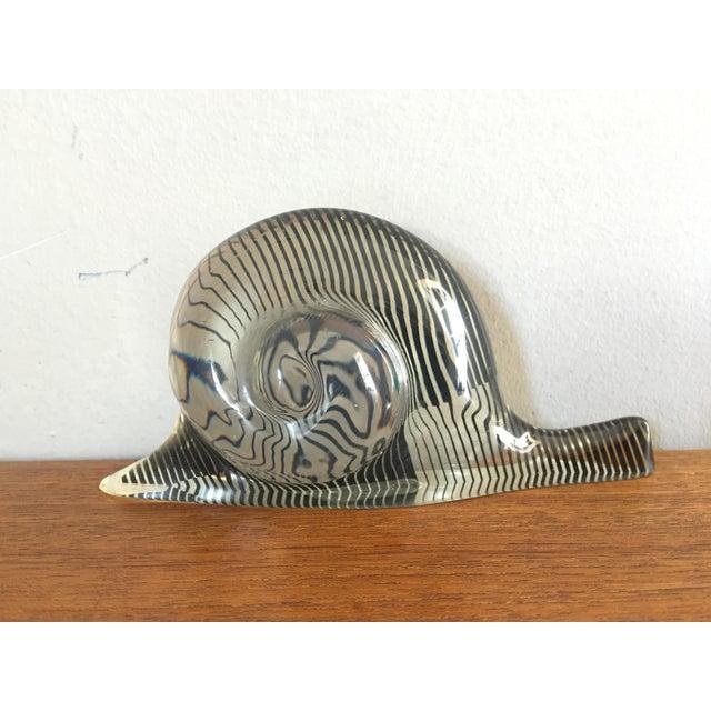 Abraham Palatnik Mid-Century Lucite Snail - Image 2 of 5